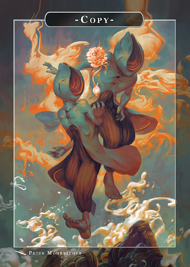Copy Token for MTG (Peter Mohrbacher) Token Angelarium 2 - Cardamajigs