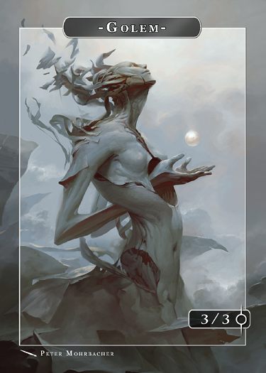 Golem Token for MTG (Peter Mohrbacher) Token Angelarium 2 - Cardamajigs