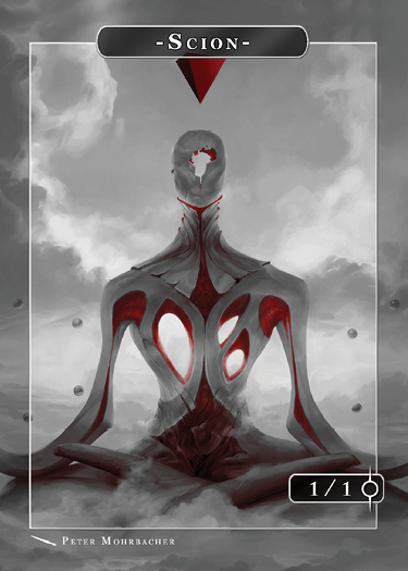 Scion Blood Token for MTG (Peter Mohrbacher) Token Angelarium 2 - Cardamajigs