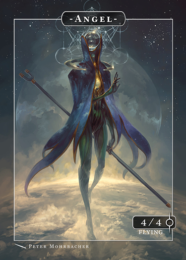 Angel Token Estibus for MTG (Peter Mohrbacher) Token Angelarium 2 - Cardamajigs