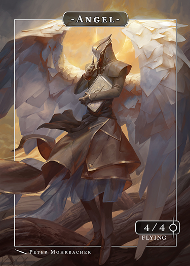 Angel Token Raziel for MTG (Peter Mohrbacher) Token Angelarium 2 - Cardamajigs