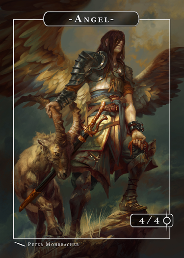 Angel Azazel Token for MTG (Peter Mohrbacher) Token Angelarium 2 - Cardamajigs