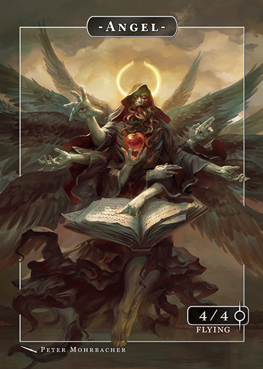 Angel Azrael Token for MTG (Peter Mohrbacher) Token Angelarium 2 - Cardamajigs
