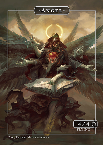 Angel Token Azrael for MTG (Peter Mohrbacher)