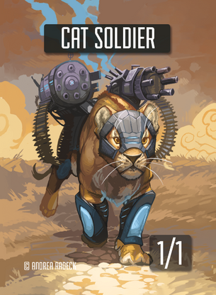 Cat Soldier Token for MTG (Andrea Radeck)