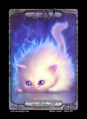 4x Cat (Princess) Tokens for MTG (Steve Argyle)