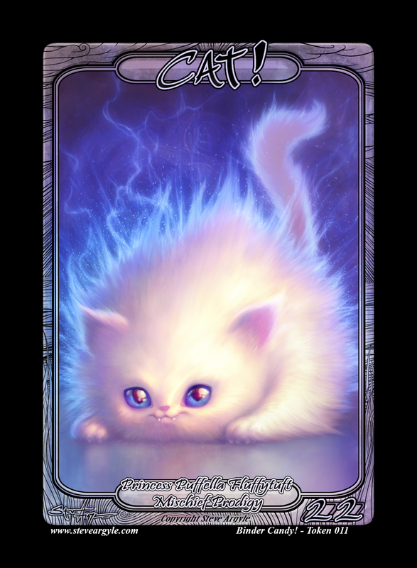 Cat (Princess) Token for MTG (Steve Argyle) Token Steve Argyle 2 - Cardamajigs