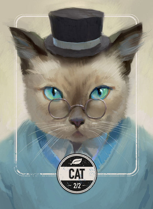 Cat token for MTG (Clint Cearley) Token Clint Cearley - Cardamajigs