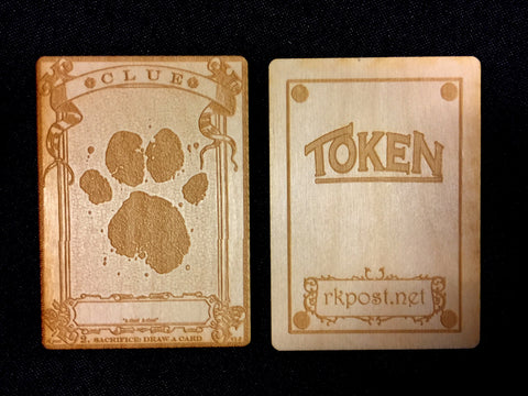 Clue Wood Token (RK Post)