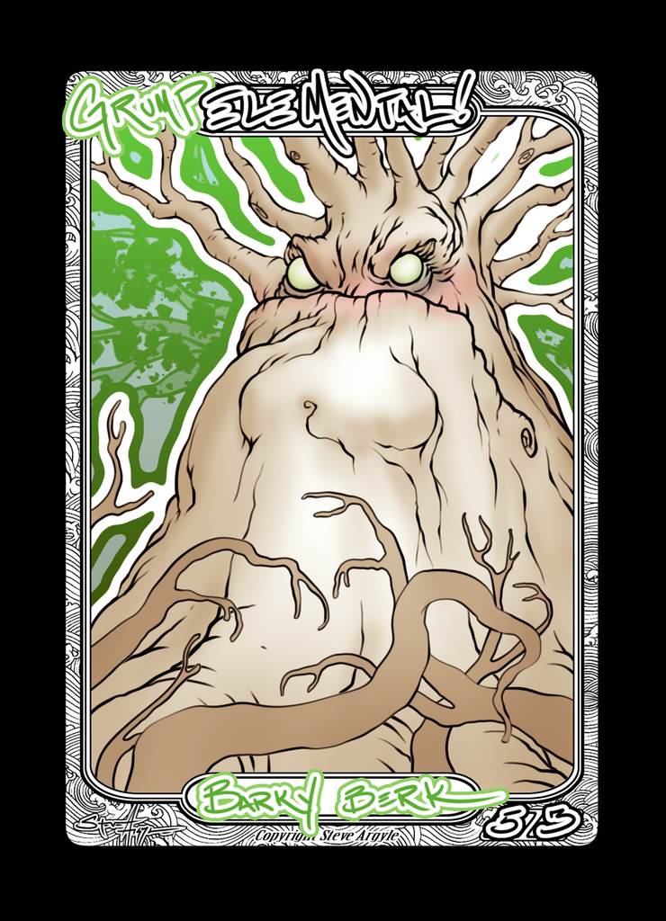 Elemental (Grump) Token for MTG (Steve Argyle) Token steve Argyle 2 - Cardamajigs