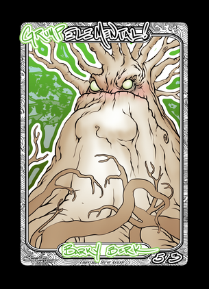 Elemental (Grump) Token for MTG (Steve Argyle)