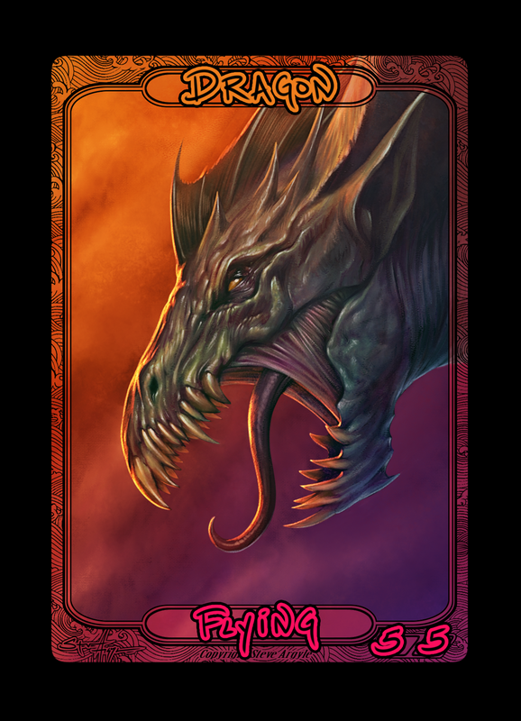 Dragon Token for MTG (Steve Argyle) Token Steve Argyle 2 - Cardamajigs
