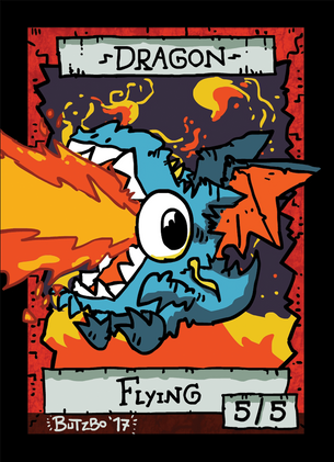 Dragon Token for MTG (Butzbo)