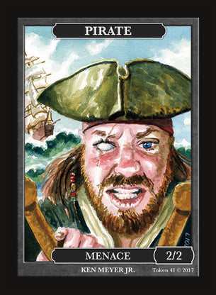 Limited Edition Pirate 2/2 Token for MTG (by Ken Meyer, Jr.)
