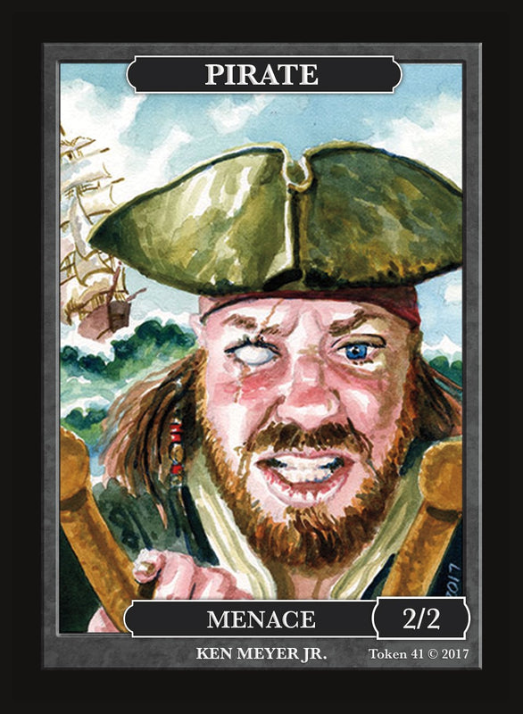 Limited Edition Pirate 2/2 Token for MTG (by Ken Meyer, Jr.) Token Givememana - Cardamajigs
