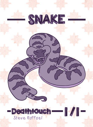 4x Snake Tokens for MTG (SRA)