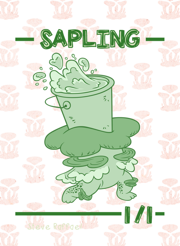 Sapling (Bucket) Token for MTG (SRA) Token Stephen Raffael - Cardamajigs