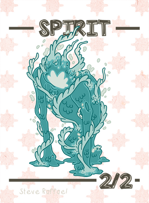 Spirit 2/2 Token for MTG (SRA)