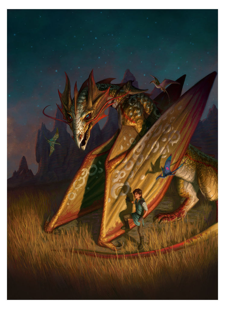 Dragon Drums - MTG Print (Eric Deschamps)