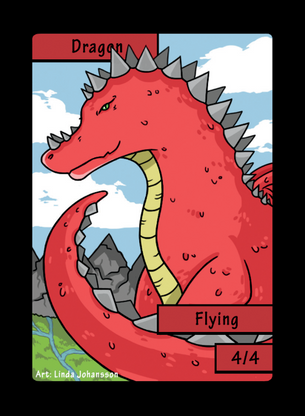 Dragon Token for MTG (LNJ)