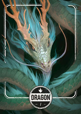 Dragon Green token for MTG (Clint Cearley)