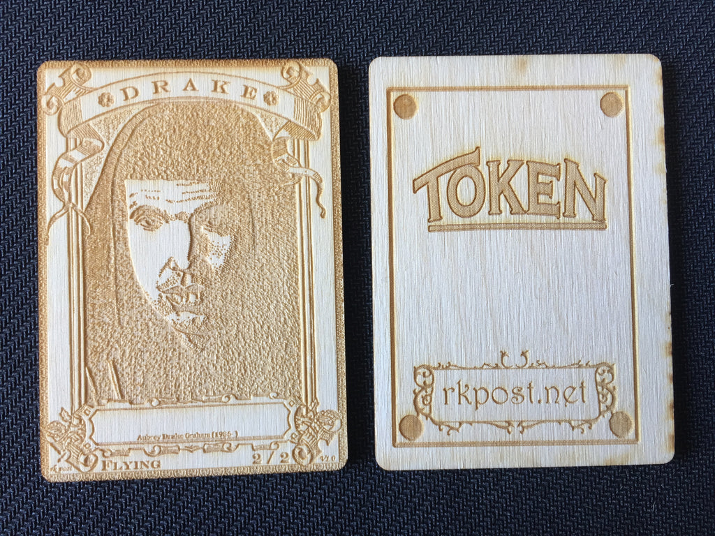 Drake 2 Wood Token (RK Post)