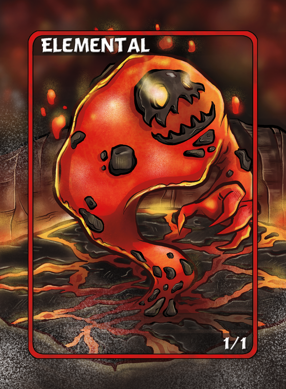 Elemental Red Token for MTG (Anthony Briglia)