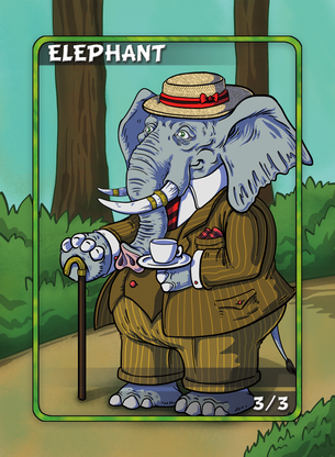 Elephant Token for MTG (Anthony Briglia)