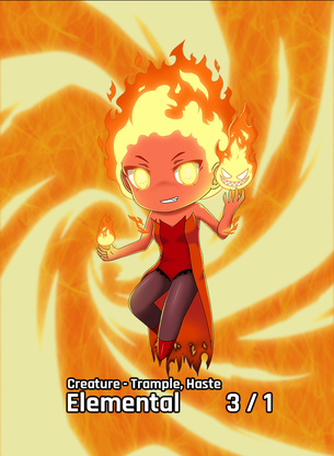 Fire Elemental Trample Haste 3/1 for MTG (AetherHub)