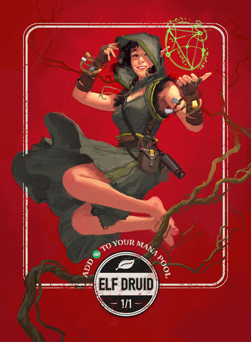 Elf Druid token for MTG (Clint Cearley) Token Clint Cearley - Cardamajigs