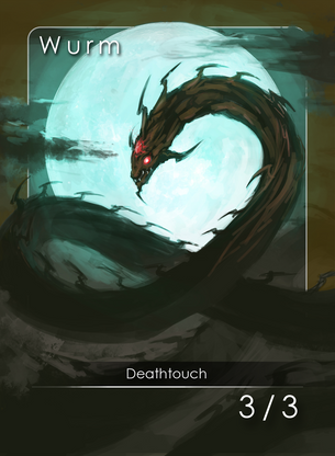 4x Wurm Deathtouch Tokens for MTG (EMY)