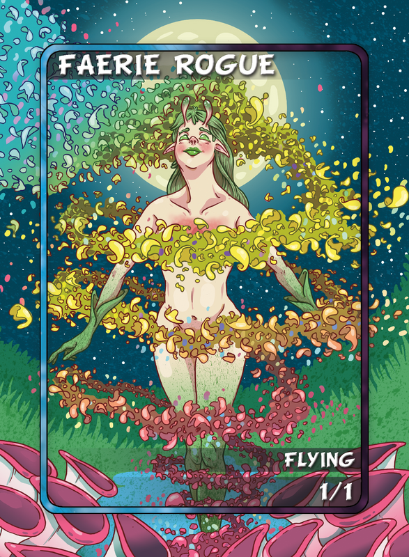 Faerie Rogue Token for MTG (Anthony Briglia) Token Anthony Briglia - Cardamajigs