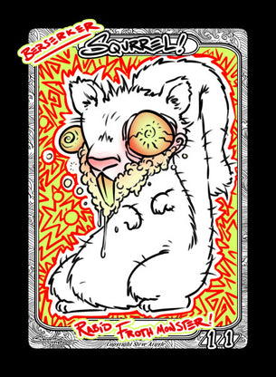 Squirrel (Berserker) Token for MTG (Steve Argyle)