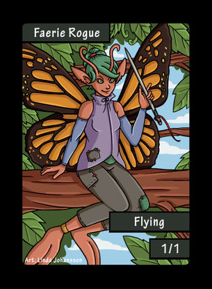 Faerie Rogue Token for MTG (LNJ)