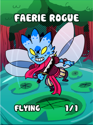 Faerie Rogue Token for MTG (Jack Hugh Baker)
