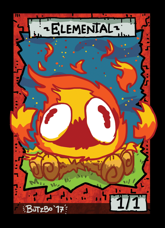 Elemental Fire Token for MTG (Butzbo) Token Butzbo - Cardamajigs