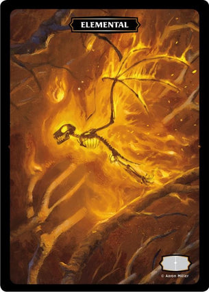 Elemental (Fire Bat) Token (Aaron Miller)