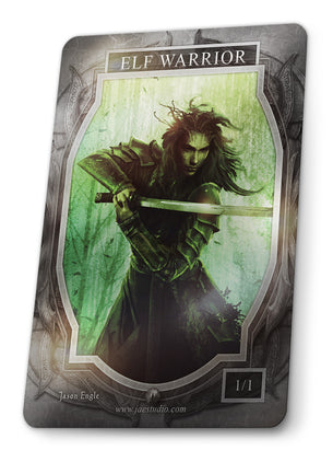 Elf Warrior Foil Token for MTG (Jason Engle)
