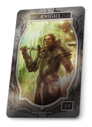 Knight Foil Token for MTG (Jason Engle)