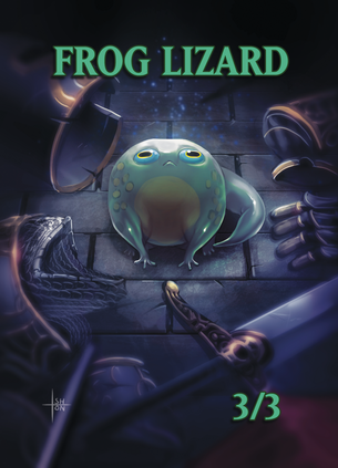 4x Frog Lizard Tokens for MTG (ISH)