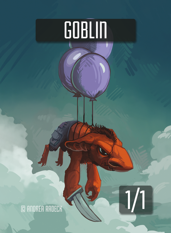 Goblin 1 Token for MTG (Andrea Radeck)