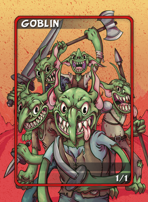 4x Goblin Tokens for MTG (Anthony Briglia)