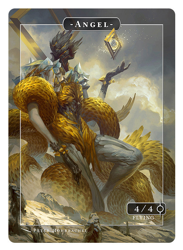 Angel Gabriel Token for MTG (Peter Mohrbacher) Token Angelarium 2 - Cardamajigs