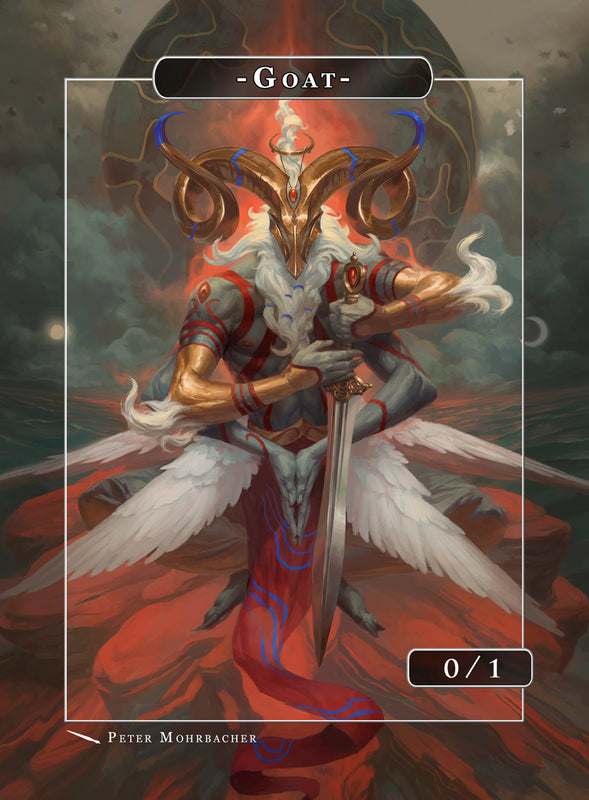 Goat Aries Token for MTG (Peter Mohrbacher) Token Angelarium 2 - Cardamajigs