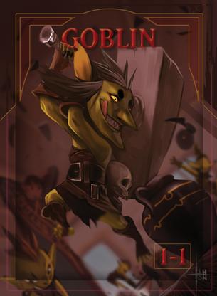Goblin 2 Token for MTG (ISH)