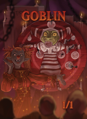 Goblin 1/1 Token for MTG (ISH)