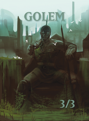 Golem 2 Token for MTG (ISH)