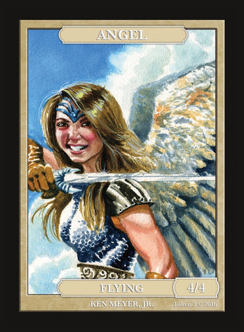 Limited Edition Angel Token for MTG (by Ken Meyer, Jr.)