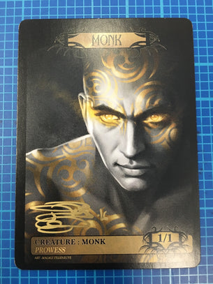 Signed Monk Token for MTG (Magali Villeneuve)