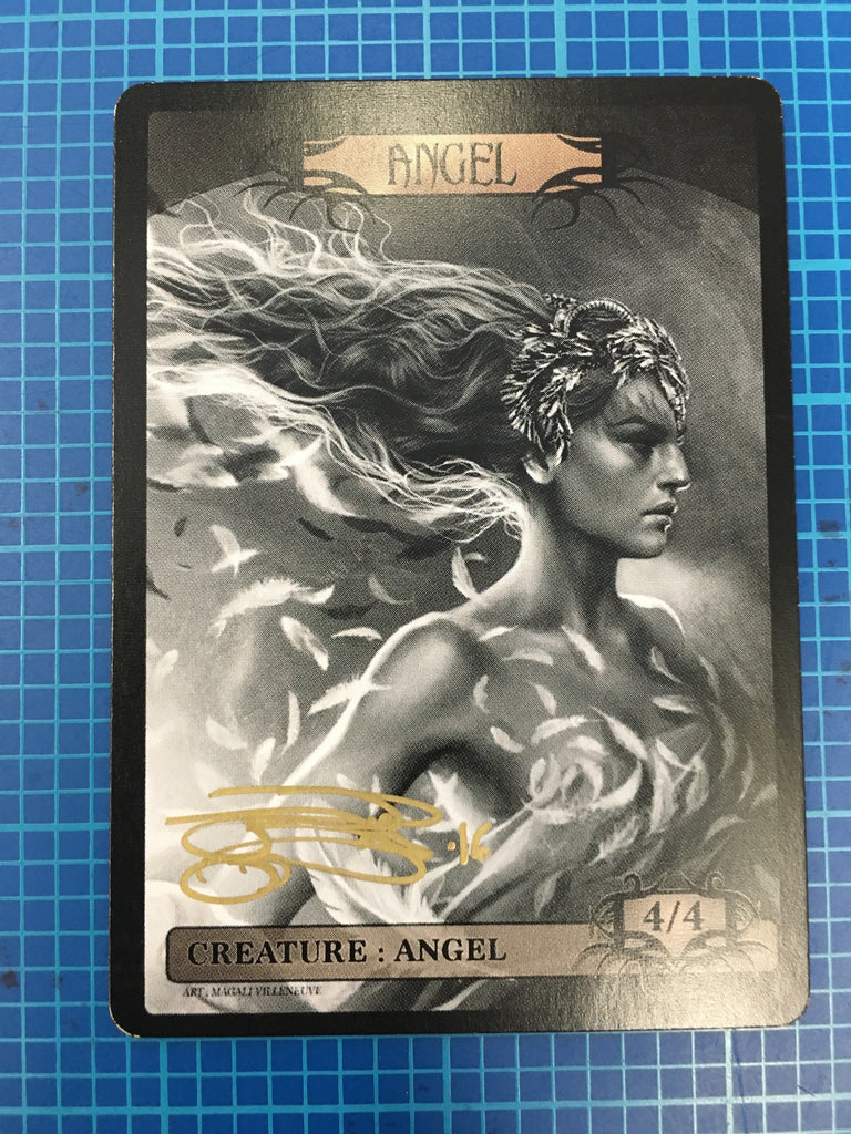 Signed Angel Token for MTG by Magali Villeneuve